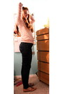 Navy-guess-jeans-light-pink-cotton-forever-21-sweater