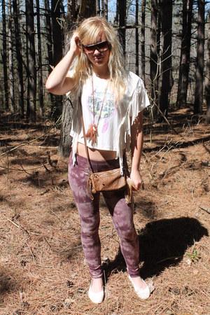 Forever 21 leggings - Pac Sun shirt - Shi bag - Dollhouse flats