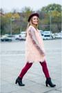 Maroon-new-look-hat-black-pull-and-bear-jacket-light-pink-stradivarius-shirt