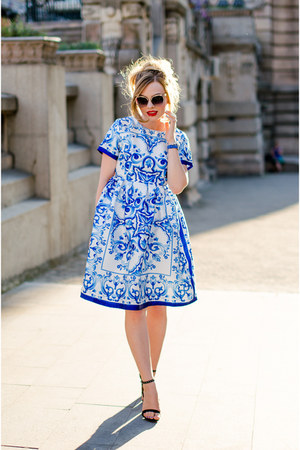 Sheinside dress - zeroUV sunglasses - Zara sandals