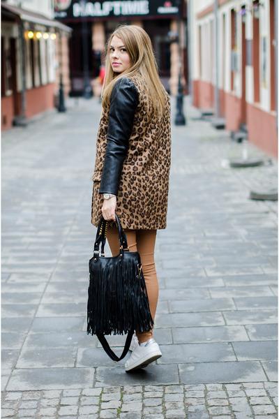 43be21ae6cf5 mustard Pimkie sweater - dark brown Pull and Bear coat - bronze Zara pants