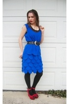 Salvation Army dress - Forever21 shoes - Dollar Tree tights - Dollar Tree belt