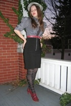 thrifted jacket - Ross skirt - Thrifted Steve Madden shoes - Salvation Army belt