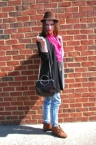 top - Salvation Army jeans - Salvation Army shoes - scarf - Fairey Godmothers pu