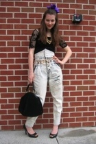 Salvation Army jeans - Charlotte Russe top - Jessica Simpson shoes - MISS RUTHS