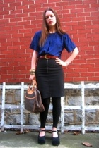 Given top - Ross skirt - thrifted belt - Louis Vuitton purse - Yardsale shoes -