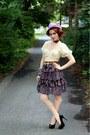 Amethyst-vintage-hat-black-charlotte-russe-heels-gold-vintage-belt