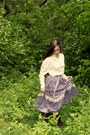 Dark-brown-boots-light-purple-vintage-gunne-sax-skirt