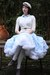 White-vintage-dress-blue-skirt-white-skirt-carrot-orange-dress-white-ski