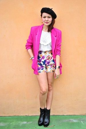 pink blazer