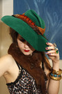 Chartreuse-vintage-hat-yellow-vintage-skirt-red-vintage-belt-dark-brown-le