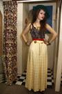 Chartreuse-vintage-hat-yellow-vintage-skirt-red-vintage-belt-dark-brown-le