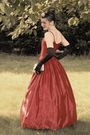 Red-gunne-sax-vintage-dress-black-vintage-gloves-silver-vintage-purse-blac