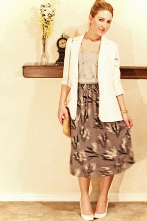 Urban Outfitters skirt - Arden B blazer - coach bag - Michael Kors watch