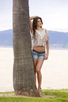 denim shorts pinkclubwear shorts - floral print pinkclubwear top