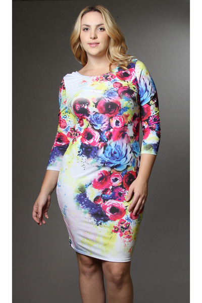 floral dress pinkclubwear dress