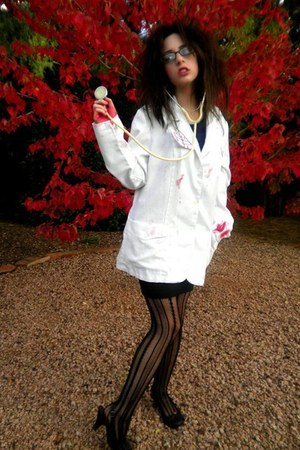 Wet Seal tights - lab coat - pumps - pencil skirt Charlotte Russe skirt