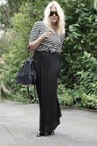 black hm dress - black Prada shoes - gray Alexander Wang purse