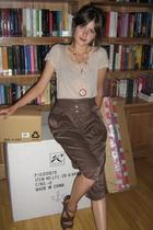 Axara shirt - Axara pants - Betsey Johnson necklace - Nine West shoes