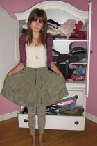 H&M vest - mama shirt - Zara skirt - Zara leggings - Betsey Johnson necklace