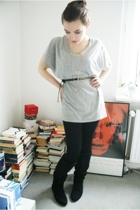 Vero Moda t-shirt - H&M leggings - vintage from Ebay boots - H&M belt