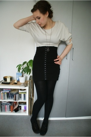 H&M skirt - H&M shirt - falke tights - Zara shirt