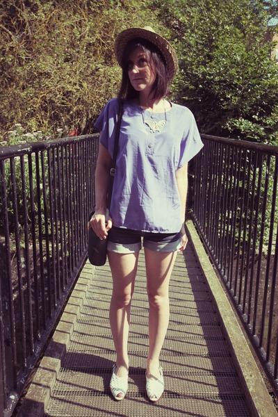 vintage blouse - Topshop shorts