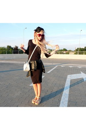 black DIY hat - ivory Parfois bag - camel Terranova sandals