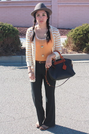 black trousers Express pants - gold boyfriend Wet Seal cardigan