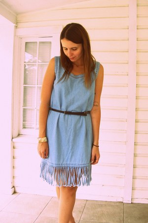 Playground Love Vintage dress - studded Forever 21 belt