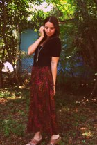 crimson Playground Love Vintage skirt - black short sleeve American Apparel body