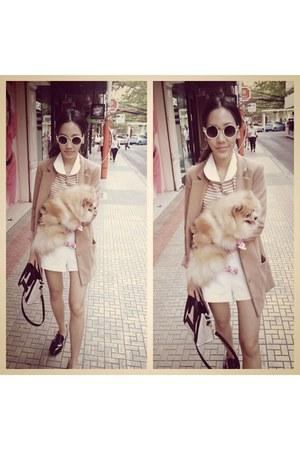 beige H&M blazer - beige Celine bag - beige H&M sunglasses