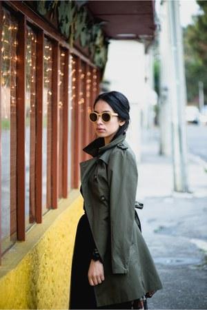 H&M dress - Stradivarius coat - Bershka skirt - Jimmy Choo pumps