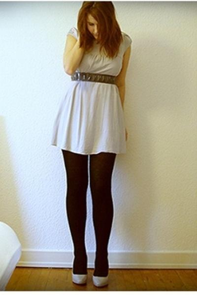 H&M dress - Supermarket belt - Supermarket tights - H&M shoes