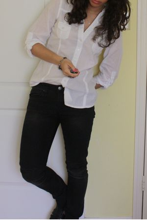 Passport shirt - blank nyc jeans - Jeffrey Campbell shoes