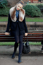 Bertie boots - Vero Moda coat - Miss Slefridge shirt - Topshop scarf