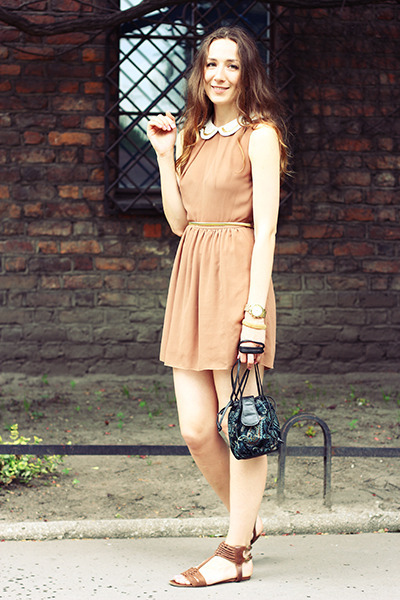 Topshop dress - vintage bag - reserver sandals
