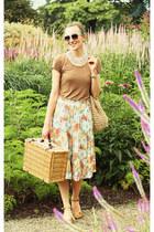 Zara sunglasses - vintage bag - Zara tie - vintage skirt - CCC sandals