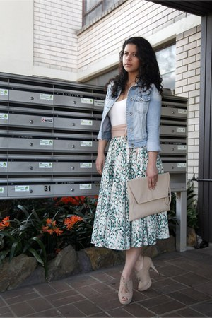 jeans Grab jacket - collette bag - Kookai top - tony bianco heels