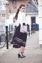 vintage skirt - united colors of benetton shirt - vintage bag - Zara sandals