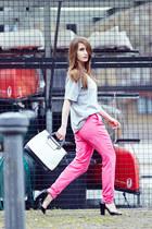 Mango t-shirt - vintage bag - Zara sandals - Accessorize necklace - Mango pants
