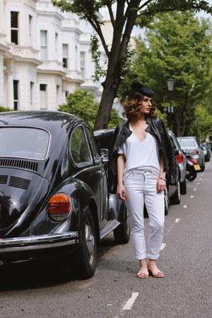 whistles shoes - nydj jeans - vintage hat - Laura Scott jacket