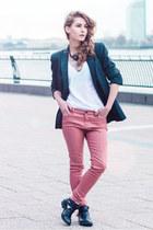 Online Avenue boots - All Saints jeans - Zara blazer - H&M t-shirt