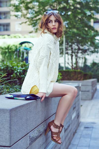 Sheinside jumper - &Other stories bag - Mango shorts - Primark sunglasses