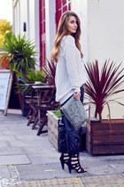 Mango sweater - Zara bag - Zara pants - H by Henry Holland sandals
