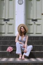vintage hat - Showpo romper - whistles flats - Rachel Jackson bracelet