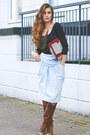 Vintage-bag-mango-blouse-byblos-skirt