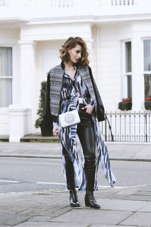 Topshop boots - GIRLS ON FILM jacket - GIRLS ON FILM shirt - new look bag