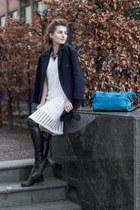 Bull Boxer boots - Hallhuber dress - COS coat - pauls boutique bag