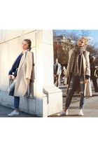 wool vintage coat - denim Zara jeans - Stradivarius sweater - Stradivarius scarf